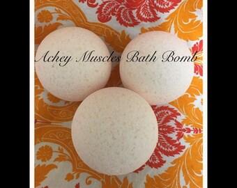 Large Achey Muscles Bath Bomb