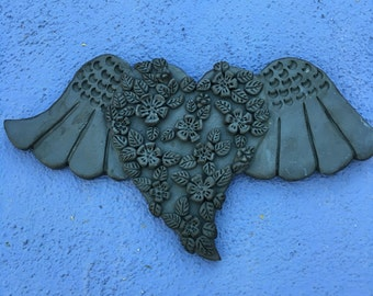 Hand-Built Pottery Winged Heart