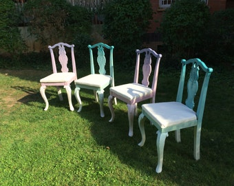 Set of 4 chairs vintage, with a modern twist