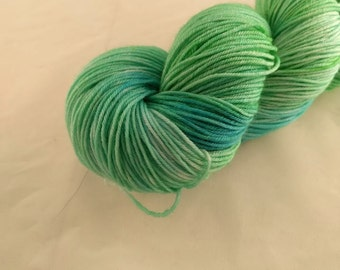 Sock Yarn - Seagrass Colorway - Merino Wool, Nylon Blend - Hand Dyed - Knit - Crochet - Light Fingering Weight