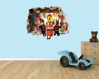 Lego Movie 3D Effect Graphic Wall Vinyl Sticker Decal