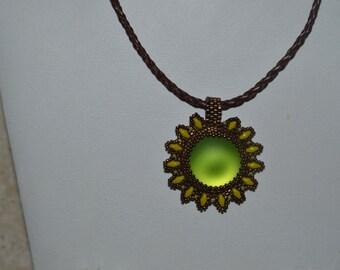 Green Lunasoft Lucite Pendant