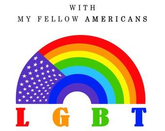 """Universal LGBT """"Let's Get Back Together"""" Tee shirt"""
