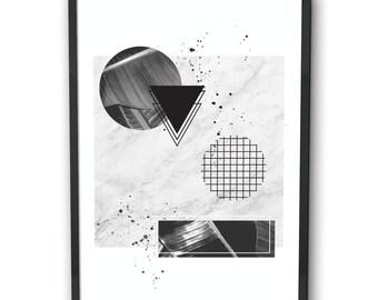 Monochrome abstract print