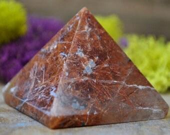 Rutilated Smoky Quartz Crystal Pyramid -  1040.02