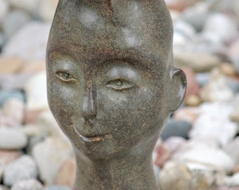 Vase with Sculpted Face