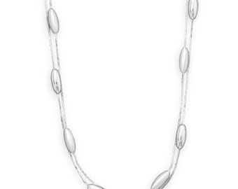 """18"""" Double Strand Beaded Necklace"""