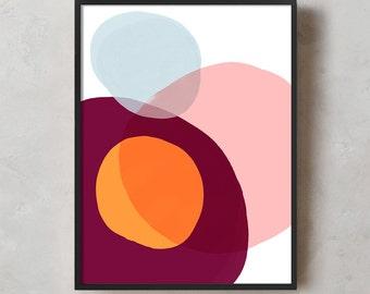 Abstract Printable Art, Printable Wall Art, Wall Art, Digital Download, Minimal, Geometric, Modern, Acrylic, Modern Wall Art