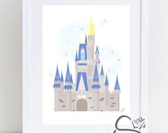 Blue Inspired Castle