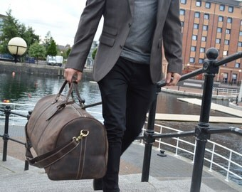 Kurtis Paul Alfred Leather Weekend Bag