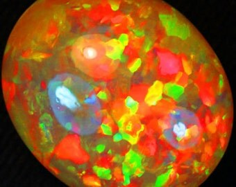 25.86cts Dazzler! Top Sparkles of Rainbow!3D HONEY COMB! Solid Welo Honey Opal