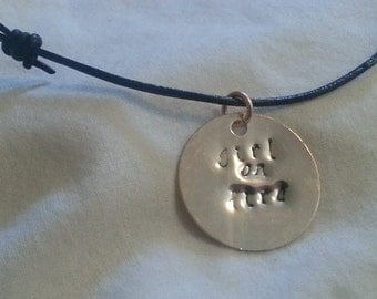 Hand Stamped, Rose Gold, Suzanne Collins, Hunger Games, Necklace