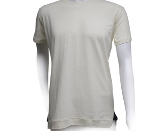 Men's Encinal T-Shirt 55 percent Hemp and 45 percent Organic Cotton by Times Hemp Company. Solid. 3 colors. Handmade in USA