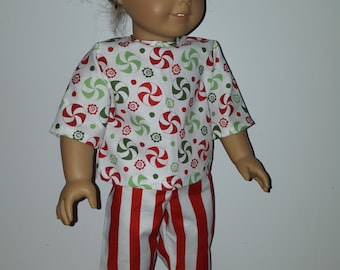Handmade Christmas outfit for American Girl Doll or other 18 inch dolls