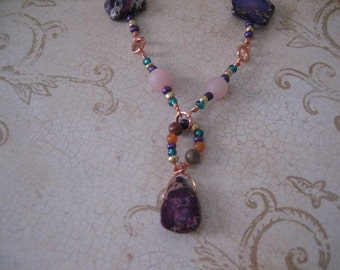 Lavender necklace FREE SHIPPING