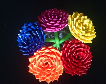 Bouquet of 5 duct tape rose pens