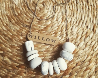 10 bead clay necklace