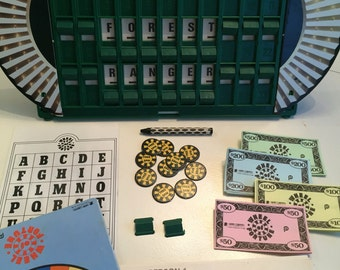 1985 Complete Wheel of Fortune 2nd edition vintage board game, by Pressman.
