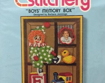 "Jiffy Stitchery ""Boys Memory Box"""