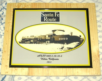 8X10 ATSF 3003 First Day on the Job Brand New Double Mallet Locomotive 1911