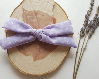 Lavender Fields Hand-Tied Headband