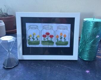 Flower Terrarium Cross Stitch