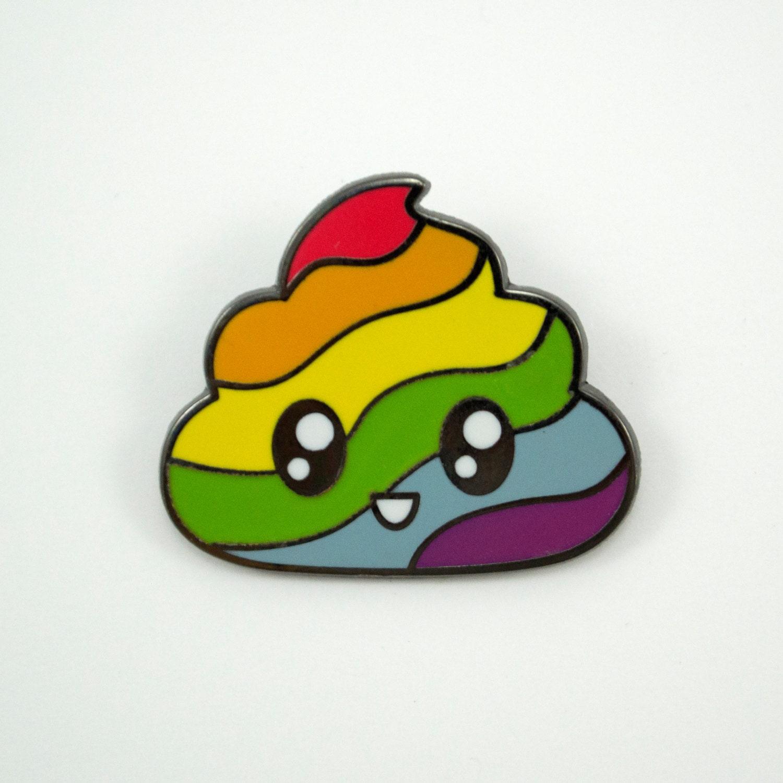 poop unicorn emoji enamel caca lindo esmalte unicornio rainbow poo swirl