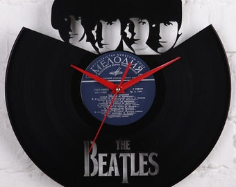 Beatles gifts vinyl record clock