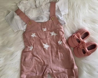 American Pink Coveralls Outfit