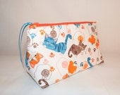 Playful Kittens Cosmetic Bag