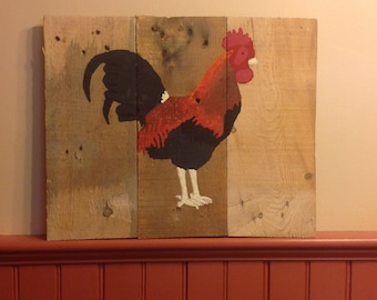 Hand Painted Folk Art Chicken