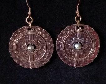 Reversible Bronze Toned Earrings