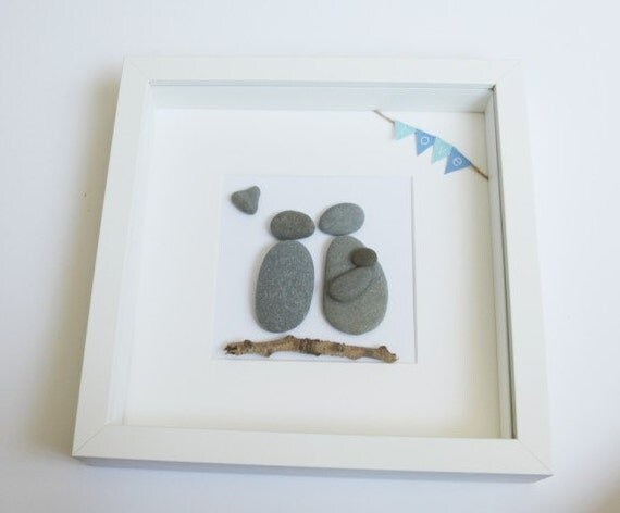 Pebble Art New Baby Frame Family Picture New Baby Gift