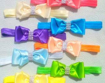 10 Headbands for newborn-12m. 10 colors