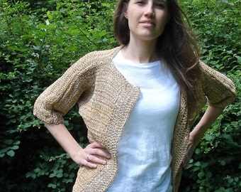 Summer cardigan in 100% ramie-size S/M