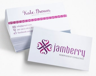 Jamberry Business Card, Jamberry Consultant Template, PSD, Photoshop, Clean and Modern, Jamberry Calling Card