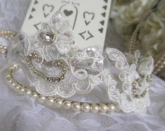 Lace & Pearl Tiara