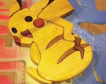 """Wooden Pikachu (6""""X 8"""" inches)"""