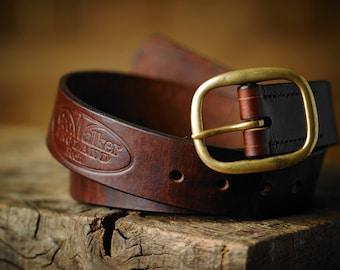 Geo. Walker England Handmade 'Banksman' Leather Waistbelt