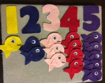 Felt Board Counting Fish (1-5)