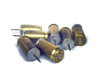 Bullet Casing Push Pins (Set of 10) for Bulletin Board