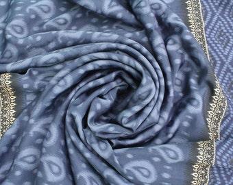 Vintage Indian sari fabric to make clothing