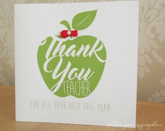 Teacher Card
