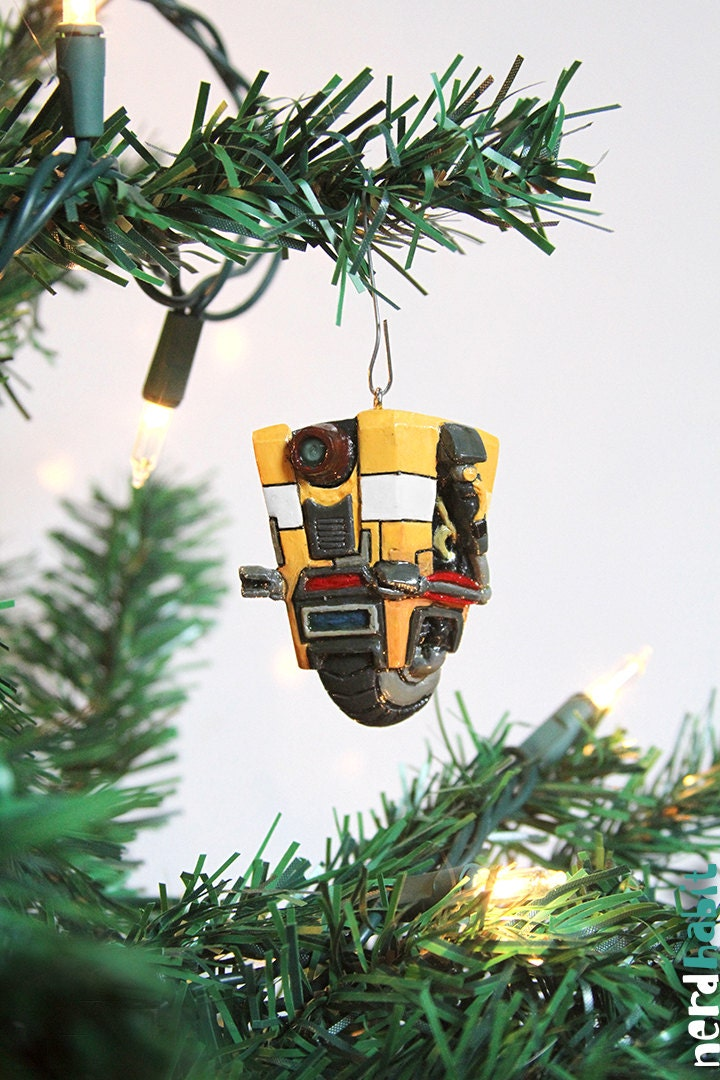 Claptrap Borderlands Christmas Ornament