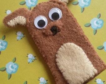 Dog finger puppet