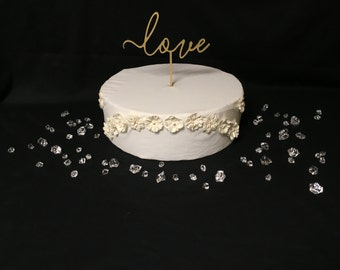Love Wedding Cake Topper ~ by JustCan'tTopIt