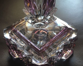 Glass Art Deco Styled Trinket Box
