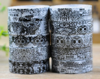 10M DIY Cute Cartoon Owl Masking Tape Lovely Kawaii Secret Garden Fita Adesiva For Home Decoration