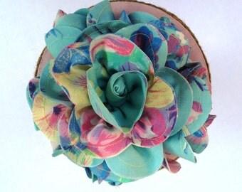 Fabric Flower Wedding Nosegay Bouquet, Flower Girl Bouquet, Wedding Decoration, Table Centerpiece, Rehearsal Bouquet, Toss Bouquet