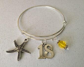 Chromosome 18 Awareness Bracelet-Ring 18